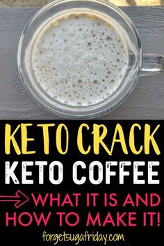 Need ENERGY on the keto diet?! Keto Crack Coffee will certainly deliver! This keto recipe will keep you fueled, energized, and in ketosis on the keto diet. Plus it's a keto coffee recipe that tastes SO good! (it also doubles as a keto fat bomb!) #ketocoffee #keto #ketodiet #ketorecipes #ketogenic #ketocoffeerecipe