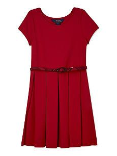 RALPH LAUREN Pleated fit and flare dress 7-14 years