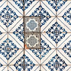 Old tile repairs found in Lisbon.