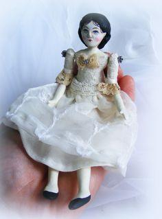 Folk Art Doll by Scherer Art. www.workingforcarrots.com
