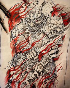 Search inspiration for a Japanese tattoo. Japanese Dragon Tattoos, Japanese Tattoo Art, Japanese Tattoo Designs, Japanese Sleeve Tattoos, Best Sleeve Tattoos, Tattoo Sleeve Designs, Japan Tattoo Design, Sketch Tattoo Design, Hannya Tattoo