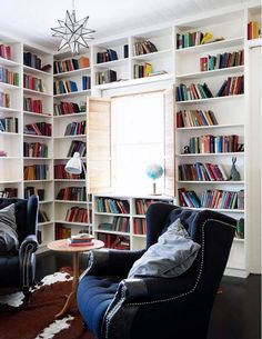 A chic reading room #literarydecor http://writersrelief.com/