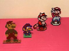 Super Mario Bros Evolution Sprites - Nintendo Video Game Inspired