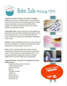 Free Bake Sale Printbles. Includes Flyers, food labels, pricing ...