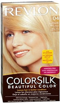 Revlon ColorSilk Beautiful Permanent Color, Ultra Light Natural Blonde 04 1 Each (Pack of 4) * Read more reviews of the product by visiting the link on the image.