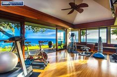 Wow, What a view while you workout! . For more on this spectacular property go to www.aninivista.com or www.balihai.com🌈👍 . . . #aninivista #anini #kauai #hawaii #kauairealestate #hawaii #hanalei #hanaleibay #workout #workitout #exercise #northshore #paradise #tropical #aloha #weightlifting #oceanview #hawaiirealestate