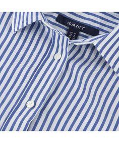 Women's Gant Striped Voile Shirt - Frosty Rose