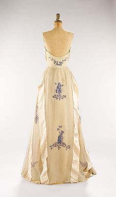 Evening Dress, House of Givenchy, ca. 1953, French, silk