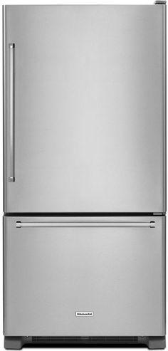 KitchenAid Energy Star Bottom Freezer Refrigerator with 22 cu. Capacity, Right Hinge, ExtendFresh Temperature Management System and Humid Kitchenaid Architect Series, Bottom Freezer Refrigerator, Kitchen Appliances, Energy Star, Management, Diy Kitchen Appliances, Home Appliances, Kitchen Gadgets