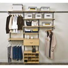 Organized Living Freedomrail 6-foot Maple Wood Closet Kit