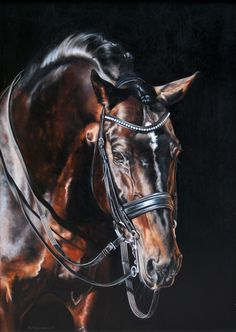 Rammstein II Horse oil painting by Katarzyna Staefanowicz