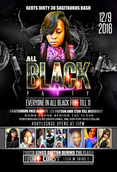 all black affair flyer designed by graphixfly for more info please