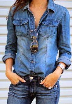 Love denim shirts!