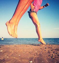 Beach jumping, high, far, fast, etc.