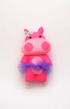 Felt magnet HIPPO GIRL  fridge magnet  baby by LadybugOnChamomile, $11.99