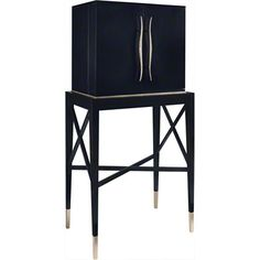 Jacques Grange for Baker, Knapp and Tubbs has a chic bar cabinet that's only 32W, 20D and 66H. See it at Suite 112 in The Marketplace Design Center, Phila.
