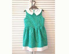 Girl Dress sewing pattern Pdf DAINTY Peter Pan collar par PUPERITA