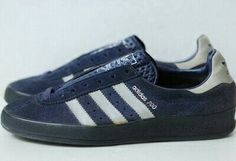 Vintage adidas AS700 in Navy suede with Onyx trim and a Black sole - Made in Yugoslavia in 1980