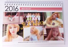 Red Velvet Photo 2016 2017 Desk (White) Calender Calendar New Year Girl Kpop Sta