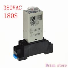 180S  H3Y-2 Power On Time Delay Relay 380VAC Timer  DPDT 8Pins #Affiliate