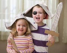 A Pirate Adventure Party - Newspaper Hat, Newspaper Crafts, Pirate Hat Crafts, Pirate Activities, Fun Activities, Pirate Day, Pirate Theme, Paper Bag Crafts, Baby Boy Photography