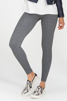 5a7c272dfadcc9 SPANX Look At Me Now Charcoal Heather Seamless Leggings Pre-Order Grey  Leggings Outfit,