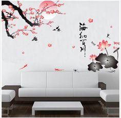 Sakura Flower Birds Wall Stickers Home Decor Living Room DIY – Home decor