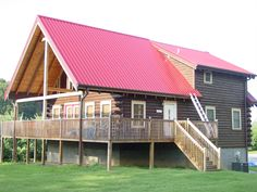 Metal Roofs Pair Great With Log Homes.
