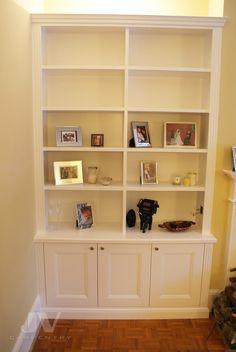 23 Alcove Shelving Ideas for your Living room | JV Carpentry Alcove Bookshelves, Alcove Shelving, Wall Shelving Units, Shelving Design, Shelving Ideas, Bookcases, Wall Shelves, Alcove Storage Living Room, Living Room Built Ins