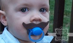 Mustache Binkies for your favorite little hipster~ Creative Green Living