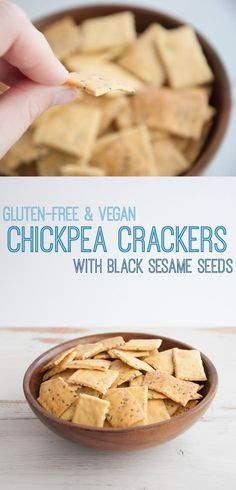 Gluten-free Vegan Chickpea Crackers | crunch and tasty bites perfect to munch on and especially incredible in guacamole or houmous | ElephantasticVegan.com