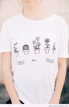 Wonderful white tee with message