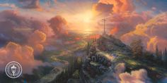 Thomas Kinkade The Cross painting for sale - Thomas Kinkade The Cross is handmade art reproduction; You can buy Thomas Kinkade The Cross painting on canvas or frame. Thomas Kinkade Art, Kinkade Paintings, Thomas Kincaid, Art Thomas, Cross Paintings, Oil Paintings, Ocean Paintings, Nature Paintings, Landscape Paintings
