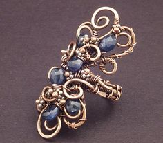Sapphire Copper Wire Ring by MaryTucker, via Flickr