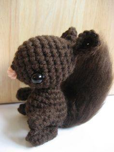 Amigurumi Crochet Squirrel Pattern on etsy. Saving so I remember how I want the tail (brushed crochet)