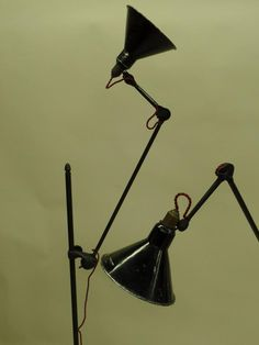 Pair of Rare and Important GRAS Floor Lamps, Model # 215 6