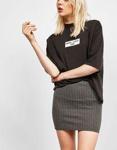 Tight-fitting miniskirt - Skirts - Bershka Ukraine