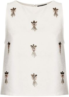 Beautiful embellished top from Topshop. Fashion Details, Diy Fashion, Ideias Fashion, Womens Fashion, Fashion Trends, Embroidery Fashion, Beaded Embroidery, Embroidery Designs, Hijab Style