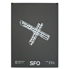 Jerome Daksiewicz of NOMO Design has created a series of screenprinted posters featuring airport runways.