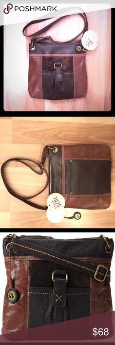 THE SAK - brown leather crossbody bag THE SAK - boho-chic brown leather crossbody bag! This bag is brand new with tags! The Sak Bags Crossbody Bags