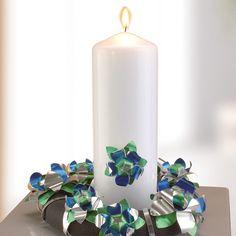 """Kerzenring mit Alublüten (Idee mit Anleitung – Klick auf """"Besuchen""""!) -"""