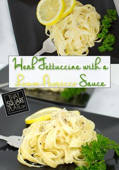 The lemon-Prosecco cream sauce was a perfect complement to the fresh, homemade fettucine.
