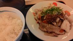 松屋 豚肉とたっぷり冬野菜炒め定食