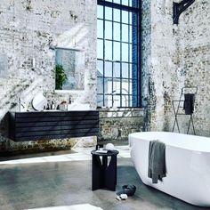 29 ideas bathroom luxury bathtubs for 2019 Industrial Bathroom Design, Industrial Interior Design, Vintage Industrial Decor, Industrial Living, Industrial Interiors, Industrial House, Industrial Style, Home Interior Design, Interior Architecture