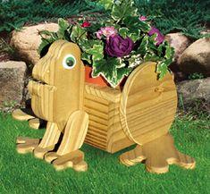 Frog Flower Pot Holder Wood Plan