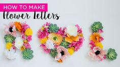 Watch this video and learn how to make flower letters for your DIY wedding! This is a great project for a photo booth back drop or reception hall décor! #diywedding Designer: Emmy-Ray Design Studio Photographer: Jana Marie
