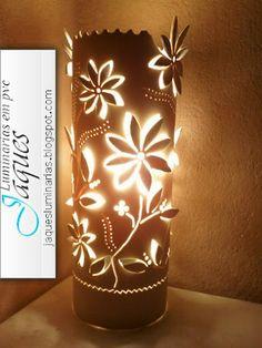 luminárias em pvc flor catavento