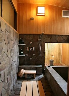 Japanese style bathroom.