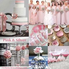"Pink and Silver Wedding  | ""Your Wedding Color - Pair With a Metallic for Stunning Shine"" 
