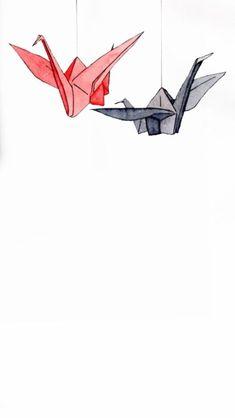 Origami crane wallpaper wallpapers 68 Ideas for 2019 Origami Crane, Iphone Wallpaper, Paper Crane, Wallpaper, Drawings, Iphone Lockscreen Wallpaper, Art Wallpaper, Wattpad Covers, Aesthetic Art